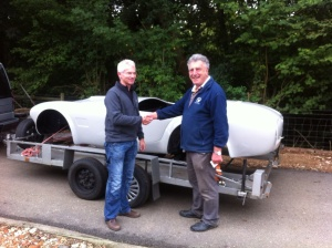 Collecting the car from Gerry in Frant.