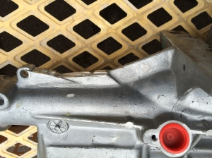 Botched attempt shows the rough edges attempting to do this with gearbox in situ.