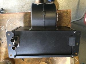 Heater matrix with fan